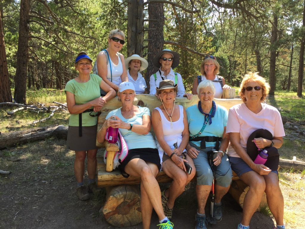 Happy Hikers at Flying J Ranch